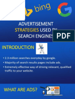 Management Information System (Advertisement Strategies by Search Engines)