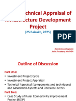1-Technical Appraisal of Infrastructure Development Project