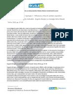 Soluzione Tipologia C, Eugenio Borgna, La Nostalgia Ferita