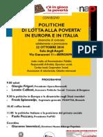 POLITICHE DI LOTTA ALLA POVERTA' IN EUROPA E IN ITALIA