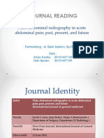 Plain Abdominal Radiography in Acute Abdominal(1)