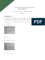 Examen Final Matematica V