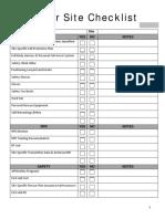 Tower Site Checklist