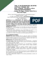 REGLAMENTO DEL 11º SALÓN MUNICIPAL DE ARTES PLÁSTICAS