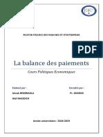 Balance Des Paiements