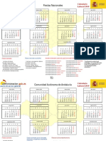 Calendario Laboral CompletoBotones 2019