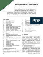 DC reactor type transformer inrush current limiter.pdf