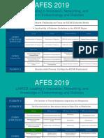 Afes 2019 Congress Programme