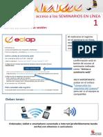 Guía de acceso al seminario en línea. ECLAP
