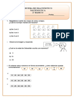 Prueba de Matemática Segundo Básico