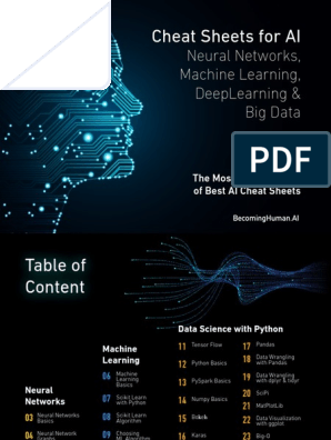 AI Deep Learning Cheat Sheets-from BecomingHuman ai pdf