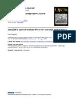 Janáček's speech-melody theory in concept and practice