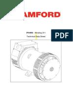 PI144H-311-TD-En Alternator Standard PI144H - 3 Ph-Winding 311