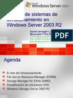 Gestion de Sistemas de Almacenamiento en Windows Server 2003 R2