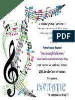 invitatie festival