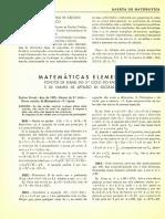 Matemática Elementar- Gazeta de Matemática