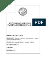 2019-1 Programa Seminario Capturas Sujeciones Domesticaciones Cuerpos y Violencia en La Literatura Inglesa