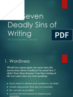 COMM171 the Seven Deadly Sins of Writing(1)