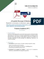 Producto académico N°1 - TALLER DE INVESTIGACIÓN I
