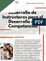 Curso Desarrollo de Instructores para el Desarrollo de Competencias