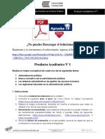 Producto académico N°1 - ADMINISTRACIÓN DEL RECURSO HUMANO EN EL SECTOR PÚBLICO