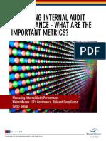 Measuring Internal Audit Performance