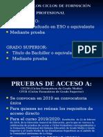 Pruebas de Acceso a Los Ciclos de Formación Profesional Curso 2918_2019
