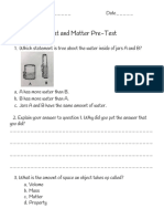 heat and matter pre-test