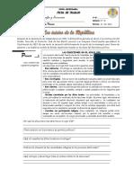 Ficha de Trabajo IVº - Los Inicios de La República