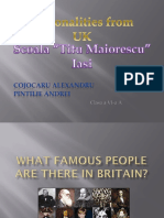 Personalities From Uk