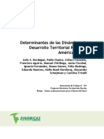 Determinantes dinámicas desarrollo territorial rural en A. Latina-2011