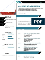 Resume of Anjuman Ara Resume