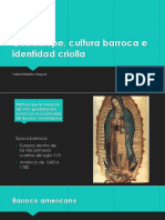 Guadalupe, cultura barroca e identidad criolla