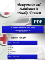 Transportation and Stabilitation in Critically Ill Patient -2015