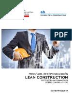2019 ARQ Brochure Prog-Especializado LEAN LCI AB (1)