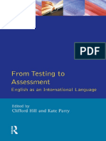 From Testing to Assessment - English as An International Language - Clifford Hill and Kate Parry