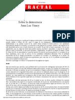 Sobre La Democracia_Jean-Luc Nancy