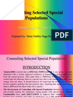 Counseling Special Populations - Snnp