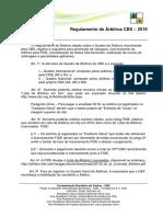 Regulamento de Árbitro CBX 2019
