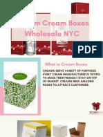 Custom Cream Boxes Wholesale 2