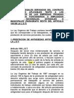 BENEFICIOS LEGALES DERIVADOS DEL CONTRATO DE TRABAJO