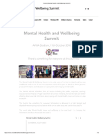 Mental Health and Wellbeing Summit 2018- Ireland