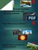 Impactes Da Exploração e Da Transformação Dos Recursos