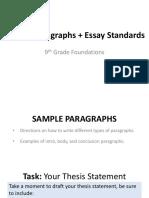 sample paragraphs   essay standards