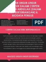 Kajian Unsur-unsur Ekstrinsik Dalam Cerpen Azizi Haji Abdullah