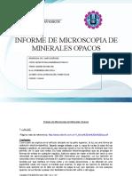 Trabajo de Microscopia de Minerales Opacos