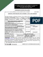 ADVT Admission Notice No. 11_2019_July