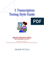 GMR Transcription Test Style Guide