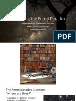 Anders Sandberg Dissolving Fermi Paradox UKSRN