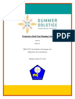 summer solstice field trip unit plan